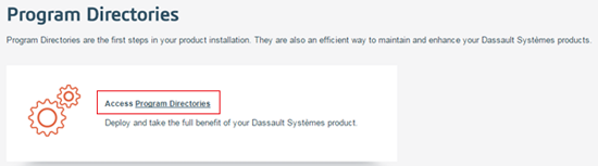 Accessing Dassault Systemes Software Program Directories 3